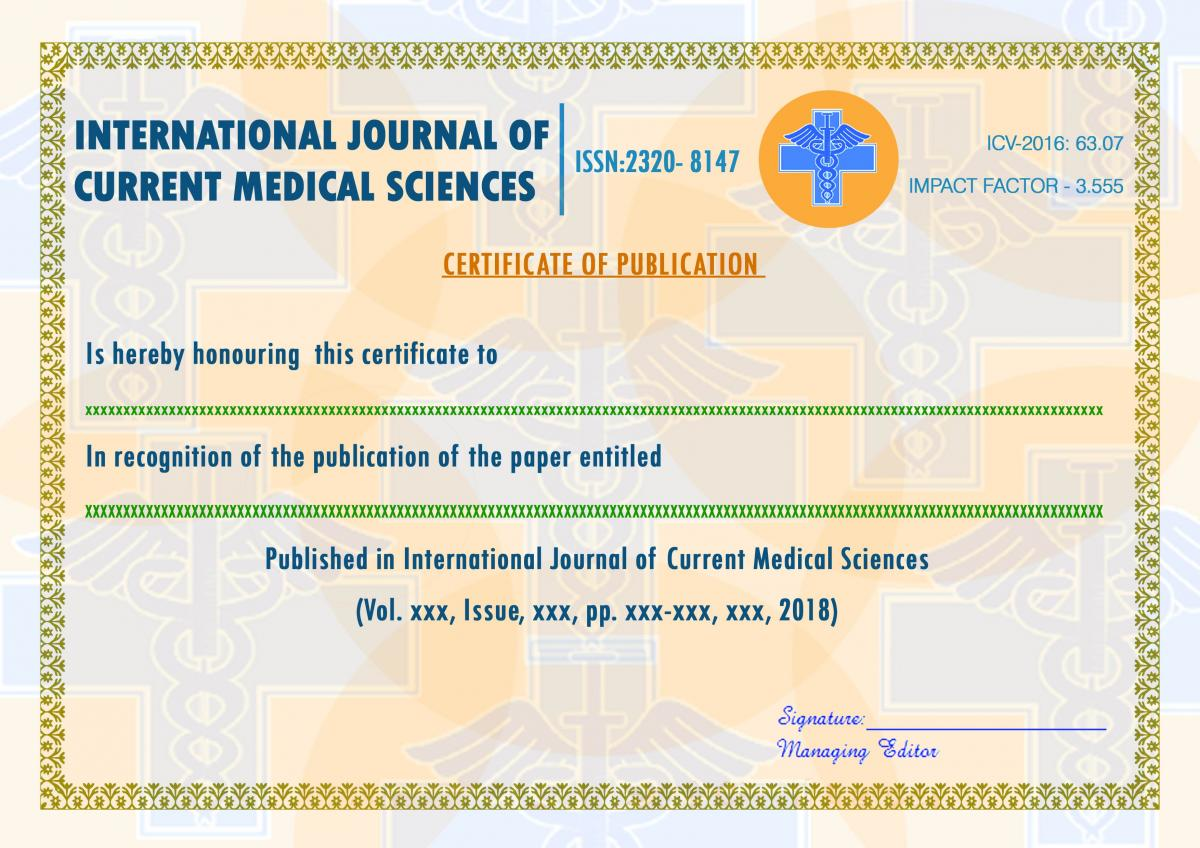 INTERNATIONAL JOURNAL OF CURRENT MEDICAL SCIENCES | INTERNATIONAL ...